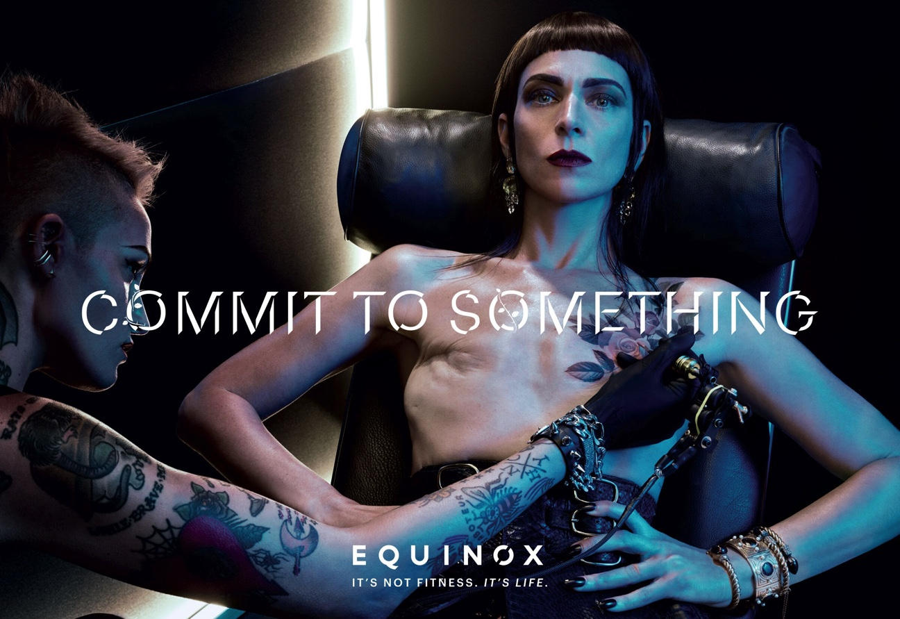 """Samantha Paige models in Equinox's 2017 """"Commit to Something""""   campaign. Photo: Steven Klein"""