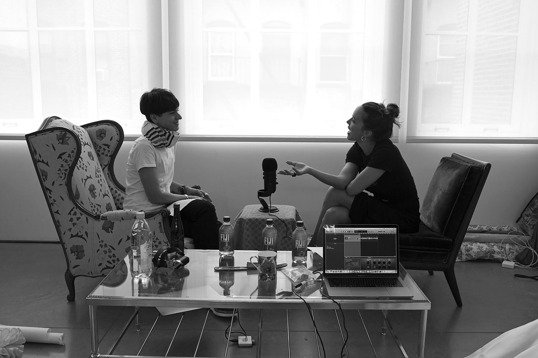 Samantha Paige interviews Zoe Buckman for  Last Cut Conversations , the  Last Cut Project  podcast. Photo: Lisa Field for  Last Cut Project