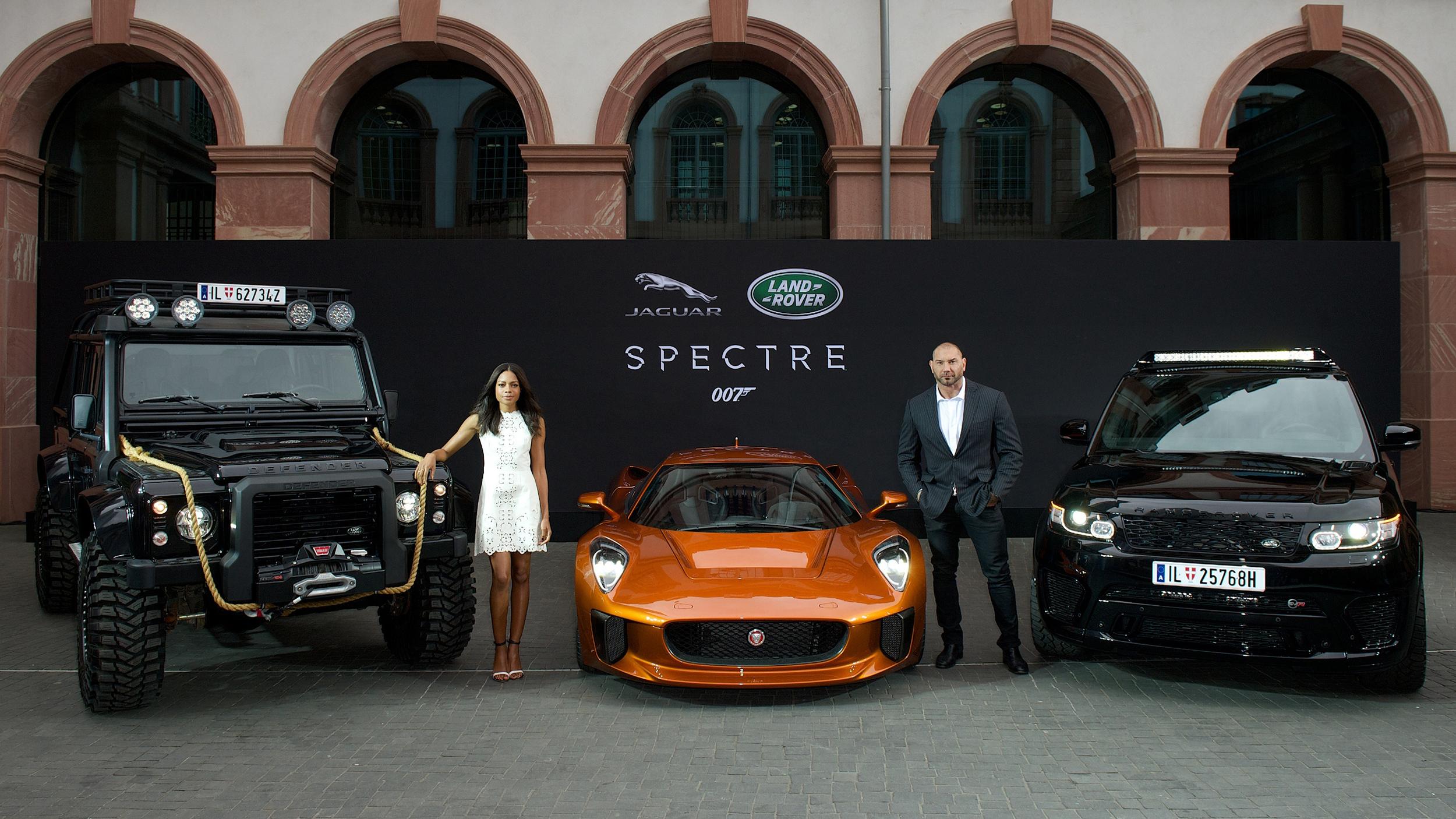 Jaguar Land Rover unveil new Bond cars in Frankfurt