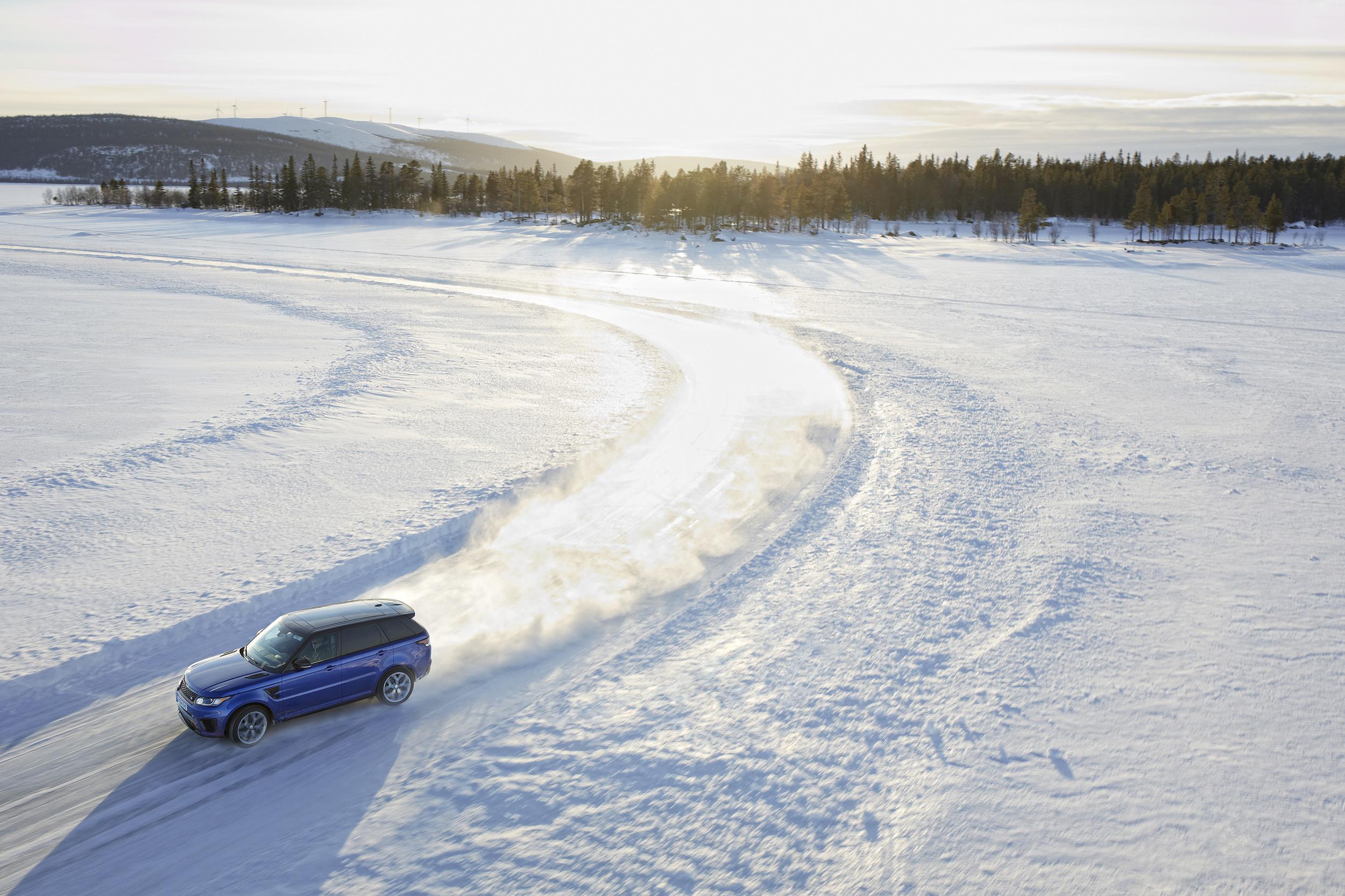 Range Rover Sport SVR tackles frozen Silverstone