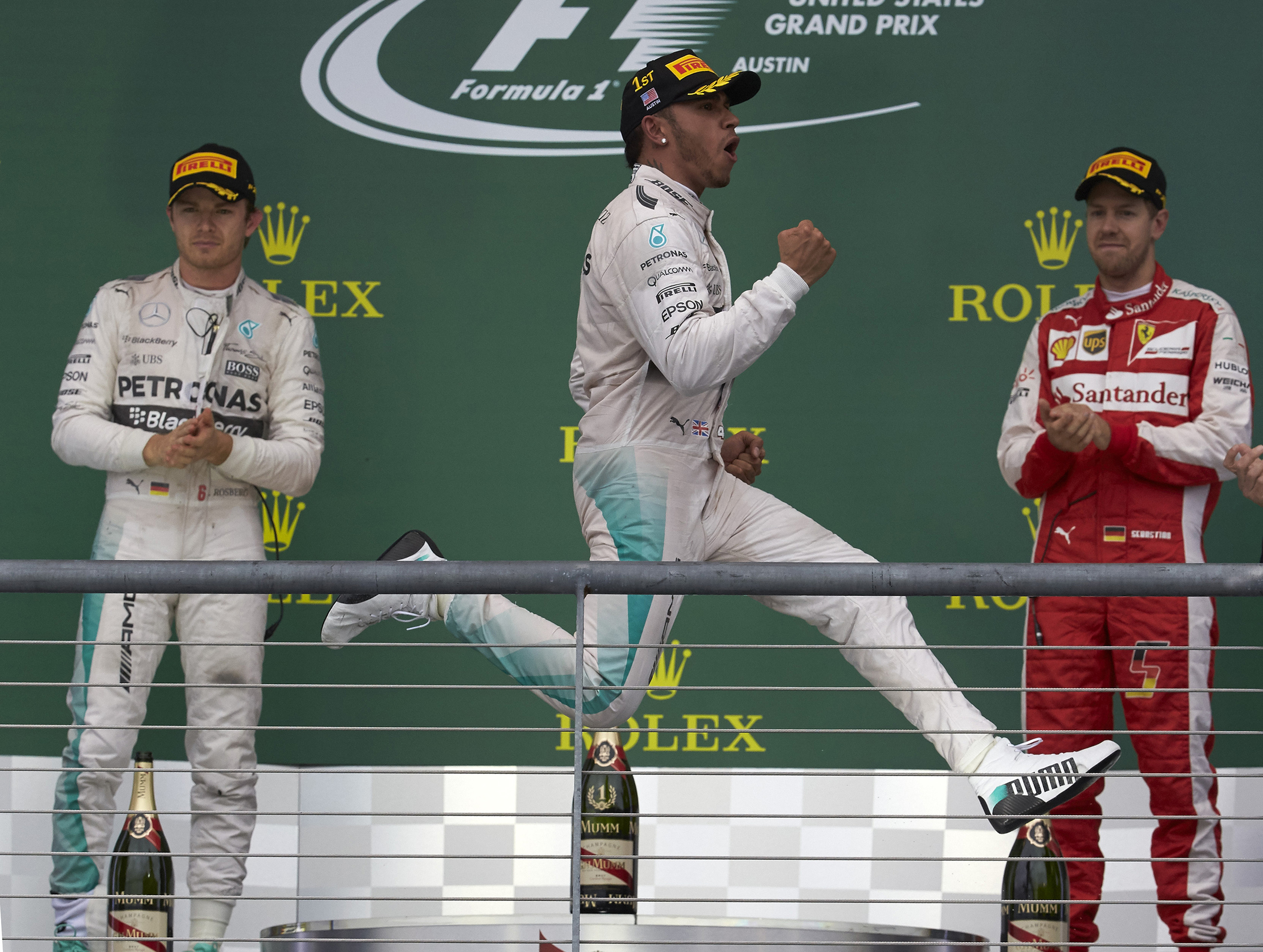 Lewis Hamilton wins third F1 World Championship