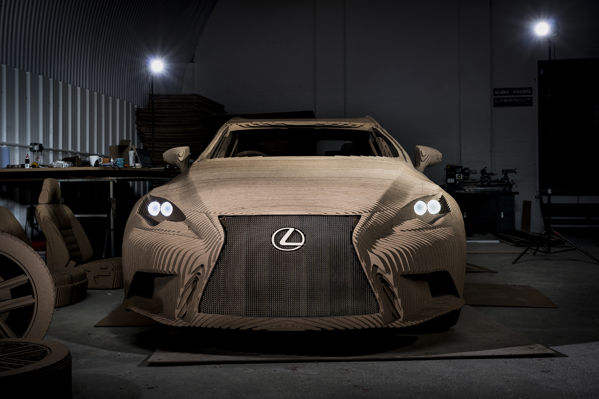Lexus builds life-size Origami Car