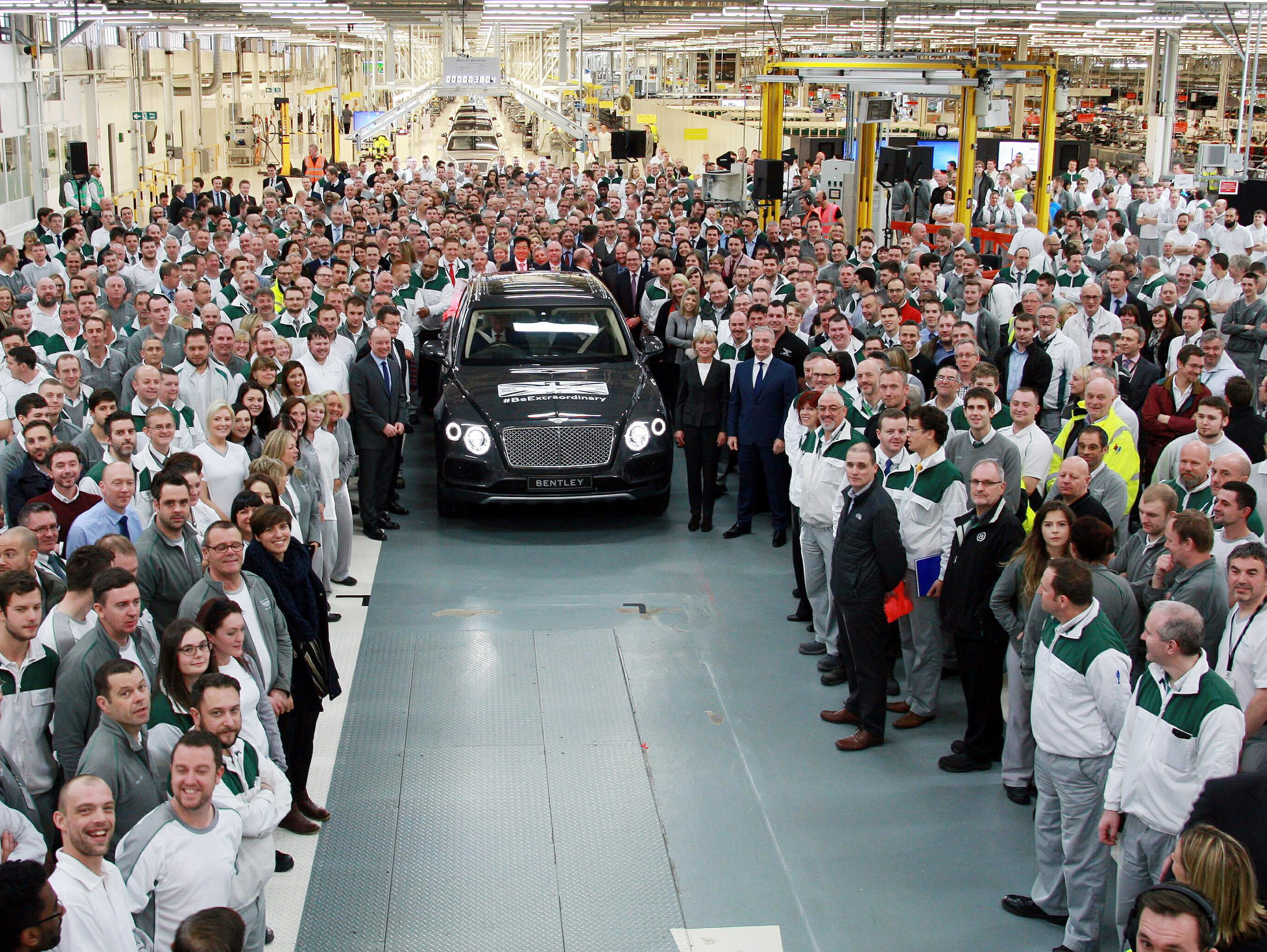 First Bentley Bentayga rolls off production line