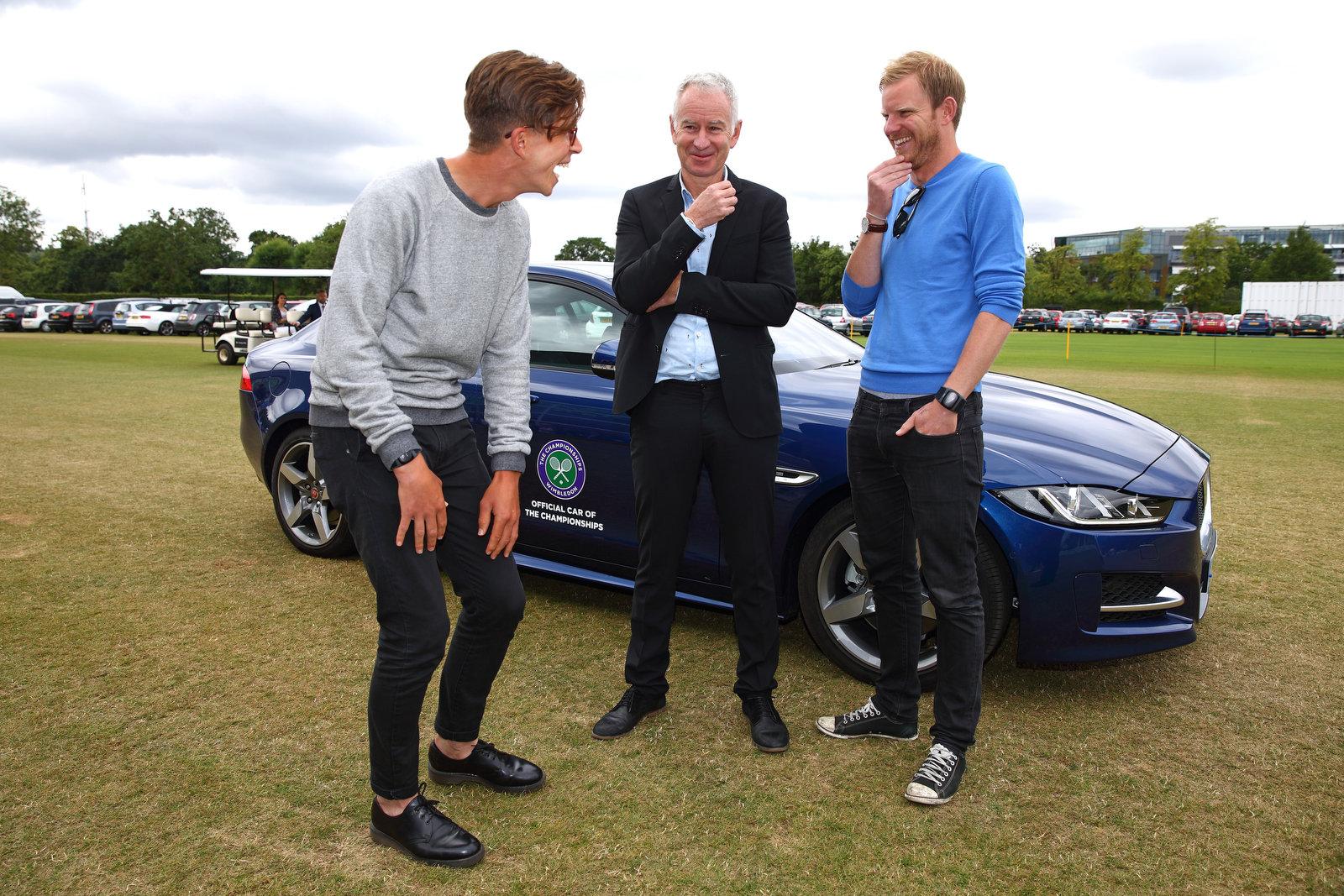 John McEnroe Chauffeurs Wimbledon fans in Jaguar XE