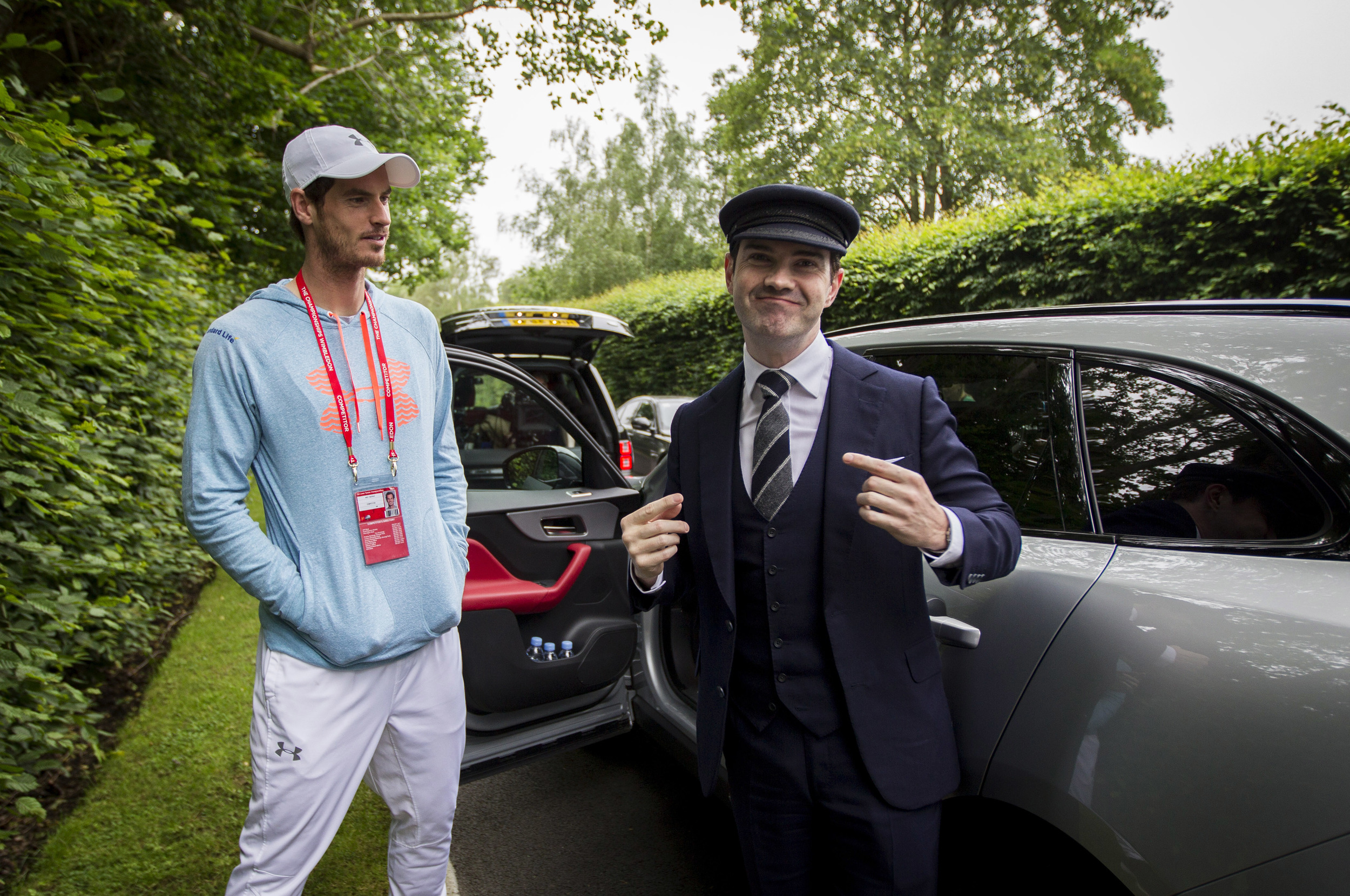 Andy Murray gets early alarm call from Jaguar's Secret Chauffeur.jpg