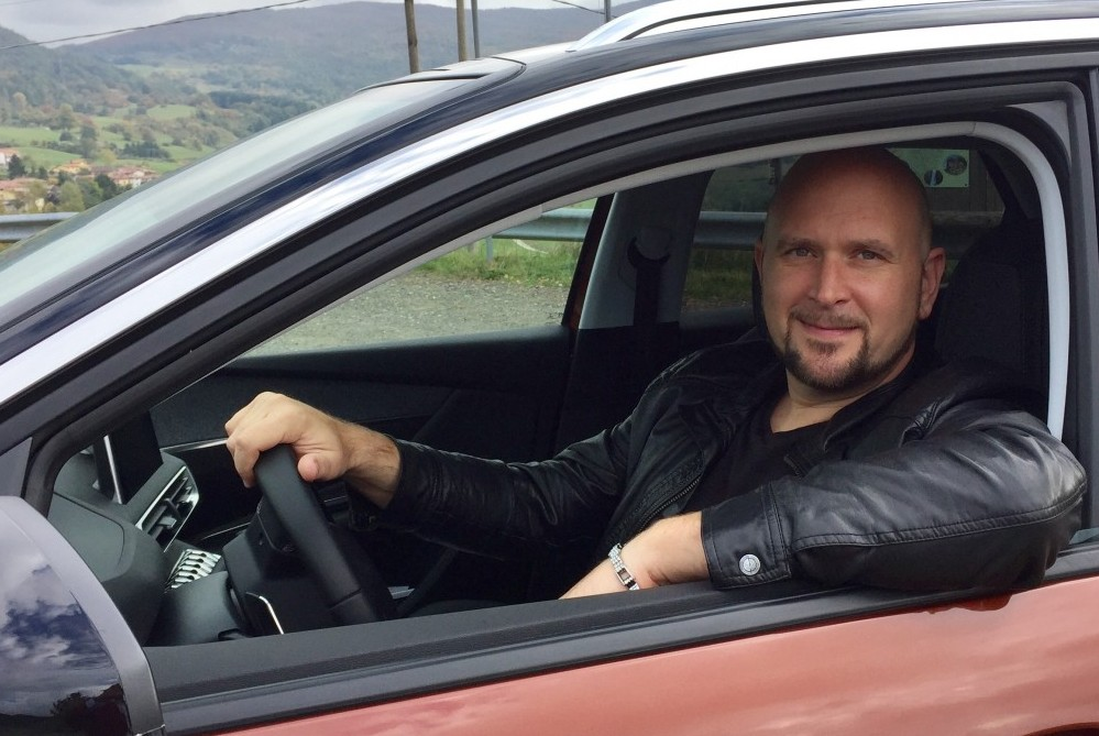 Tim BC with New Peugeot 3008 SUV.jpg