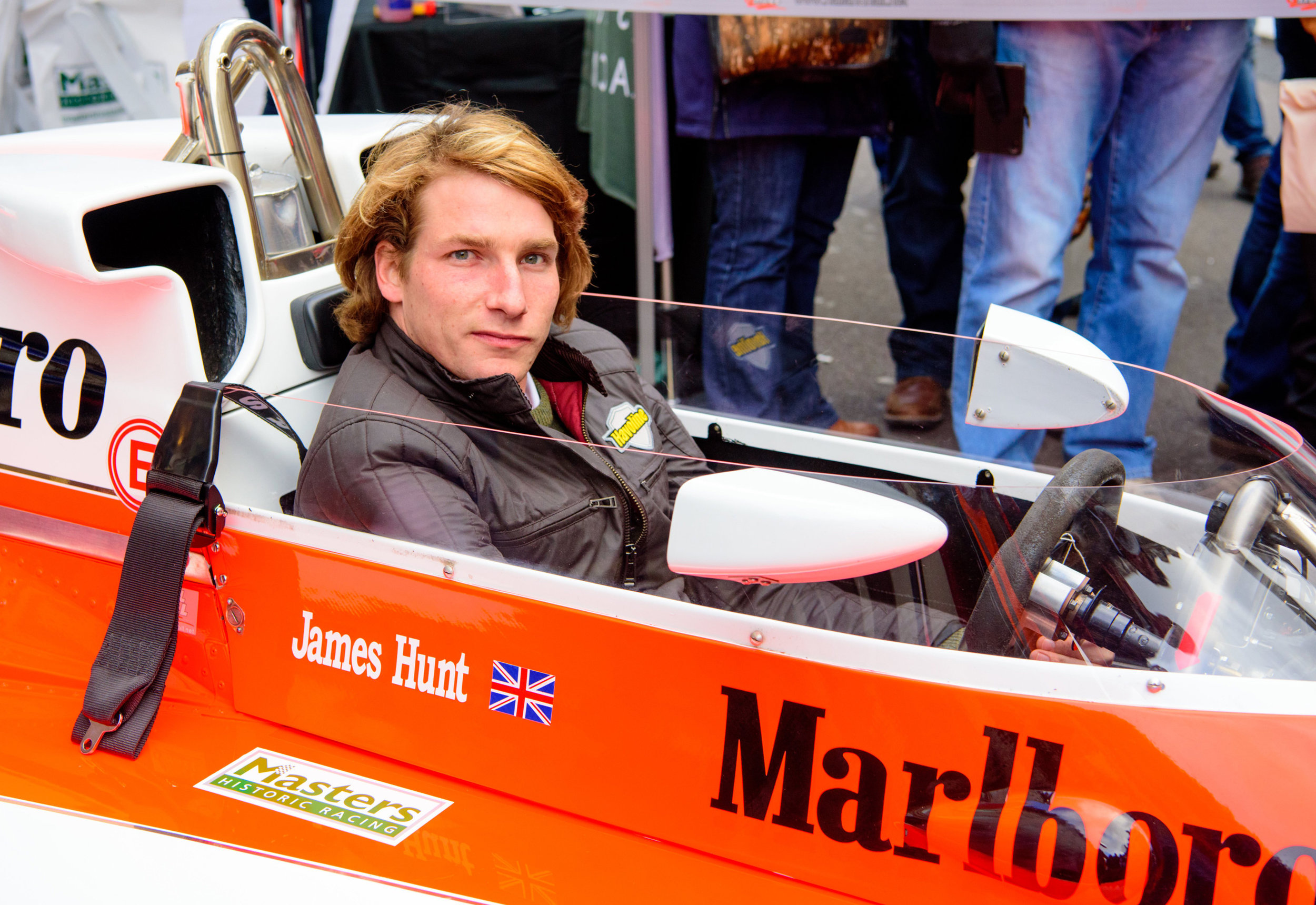 Freddie-Hunt-in-his-father's-title-winning-McLaren-at-the-Regent-Street-Motor-Show.jpg