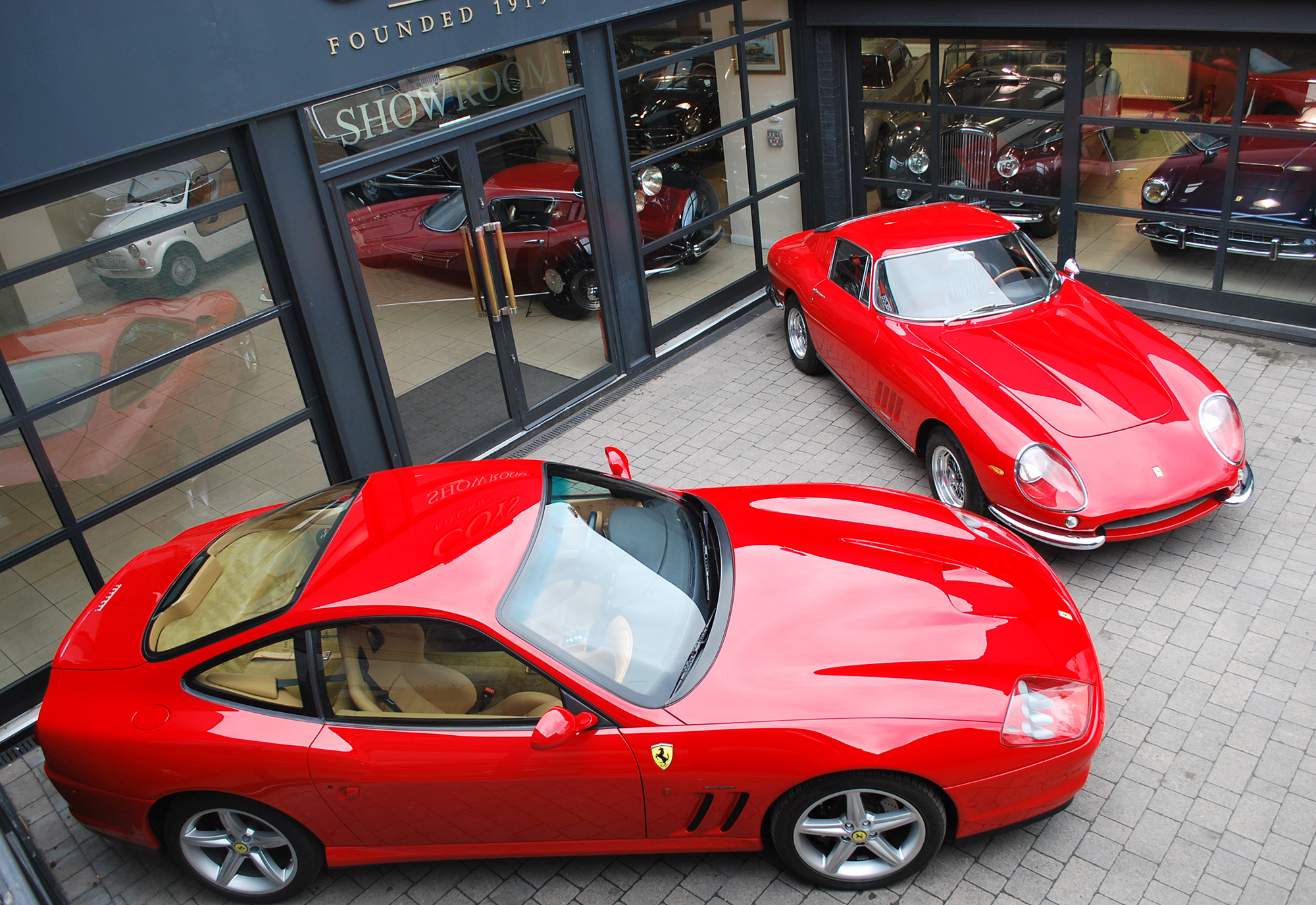 Pre-production-Ferrari-575MM-next-to-first-prototype-Ferrari-275-GTB4-(sold-by-Coys-in-May)_Coys-Fontwell_3.jpg