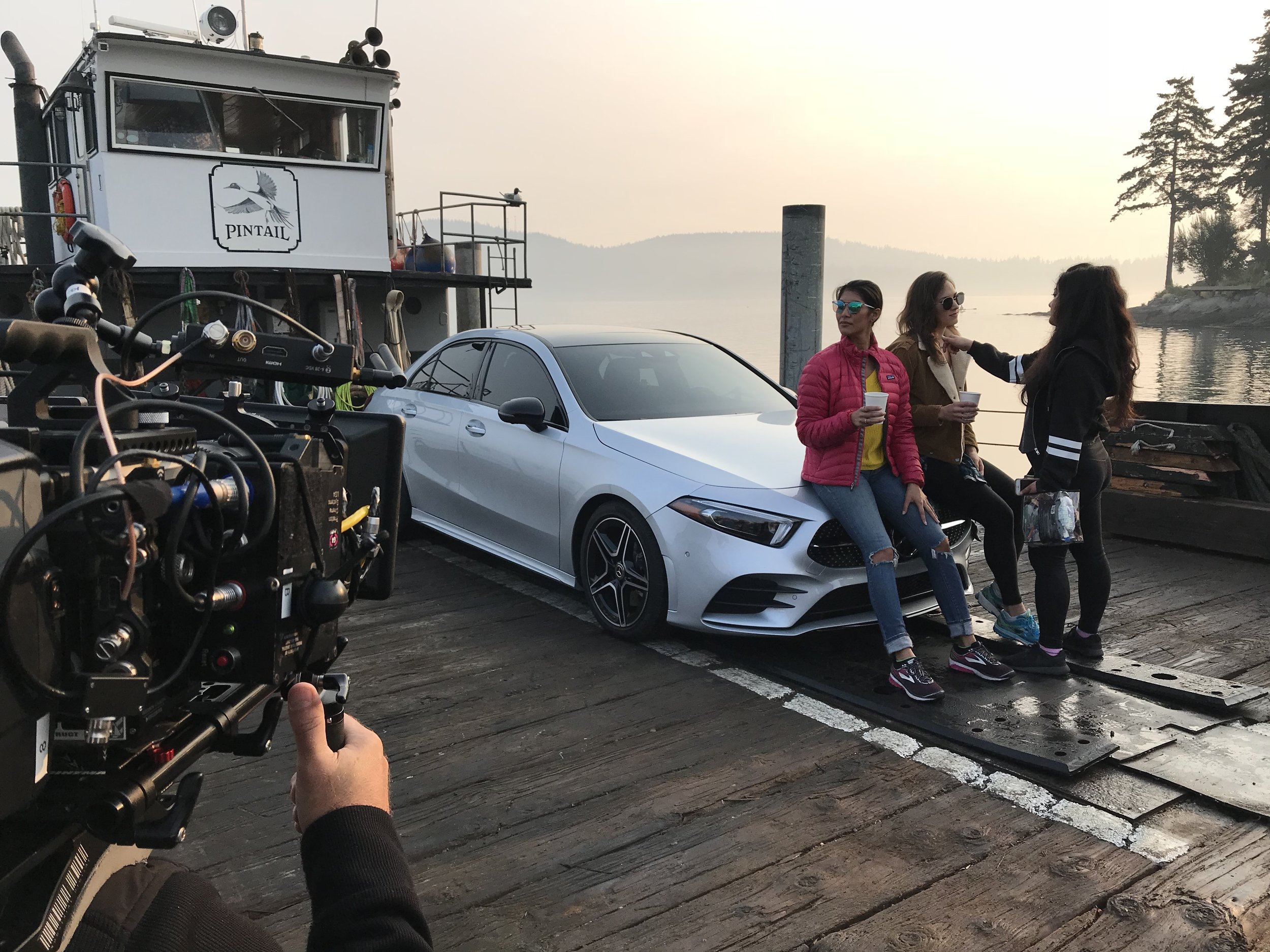 Mercedes Social Media BTS