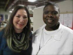 Edrena and Tinesha at Carole Young Medical Facility