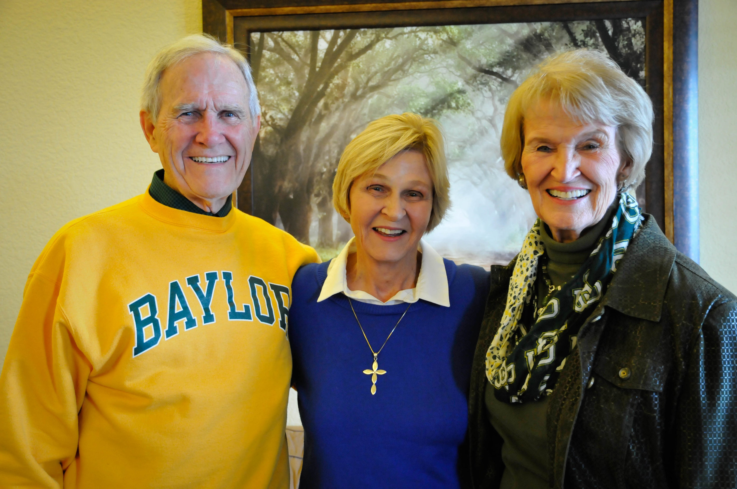 Linda with Charlie and Mary Alice Wise
