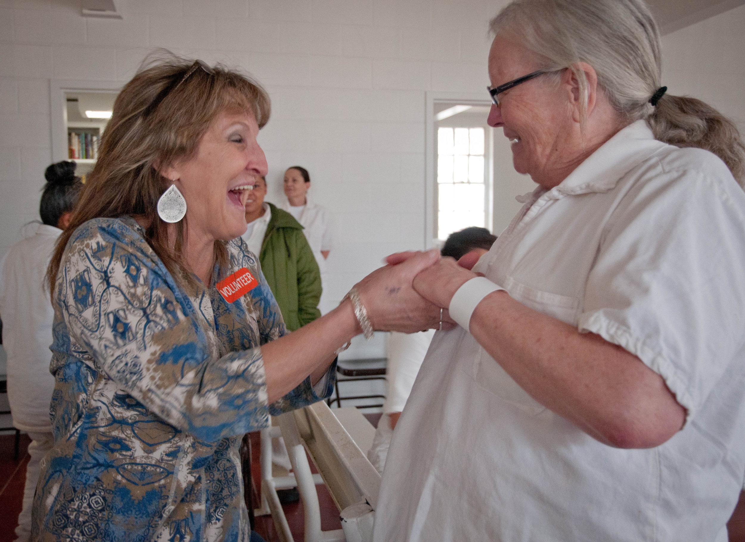Tammy and Carol celebrate Jesus!