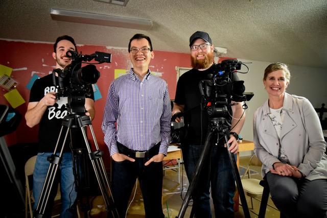 Deb Gore with the film crew!