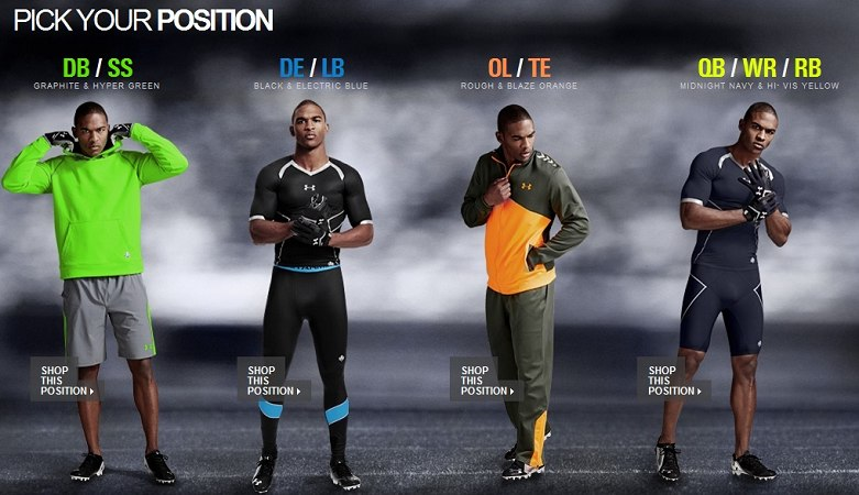 aygemang clay under armour nfl combine pick your position