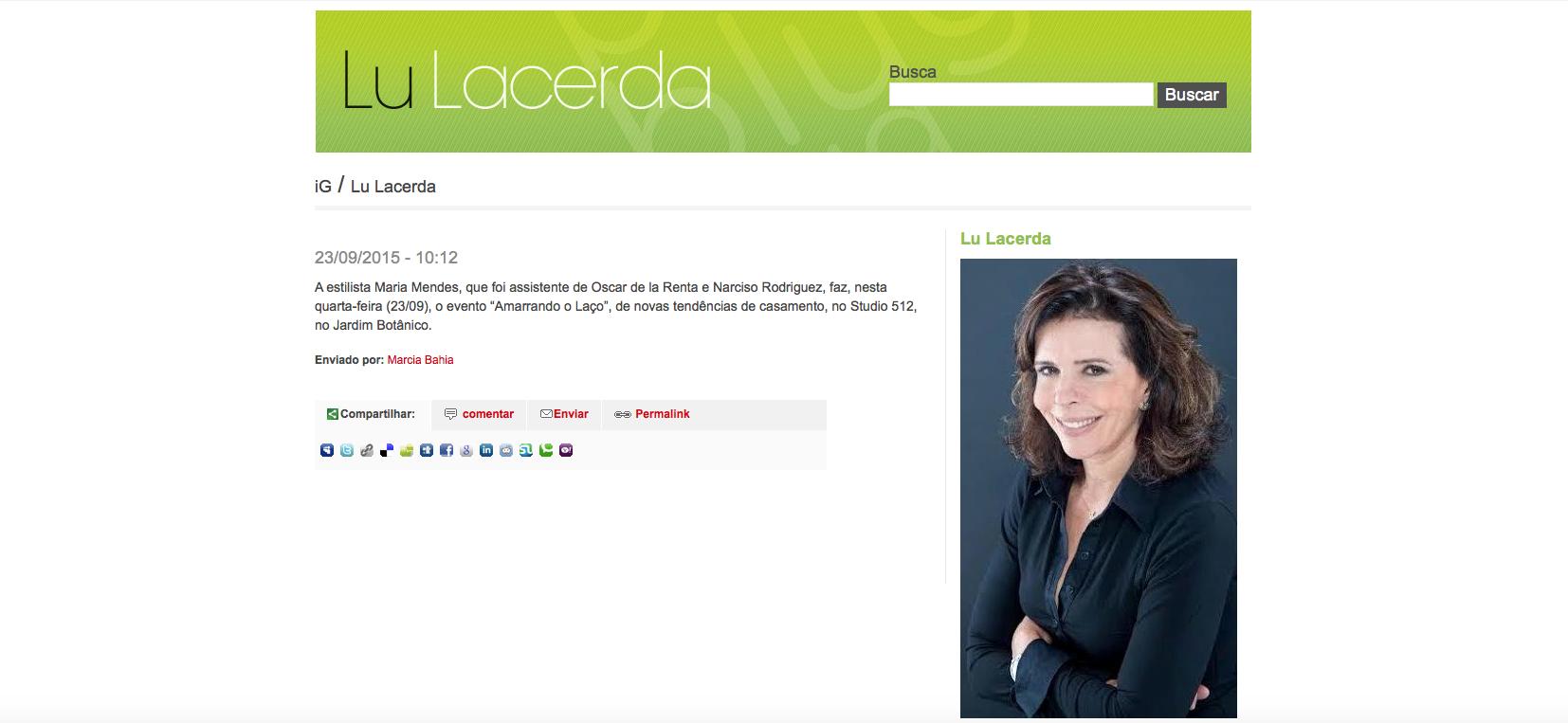 """23/09 - Site """"Lu Lacerda"""""""
