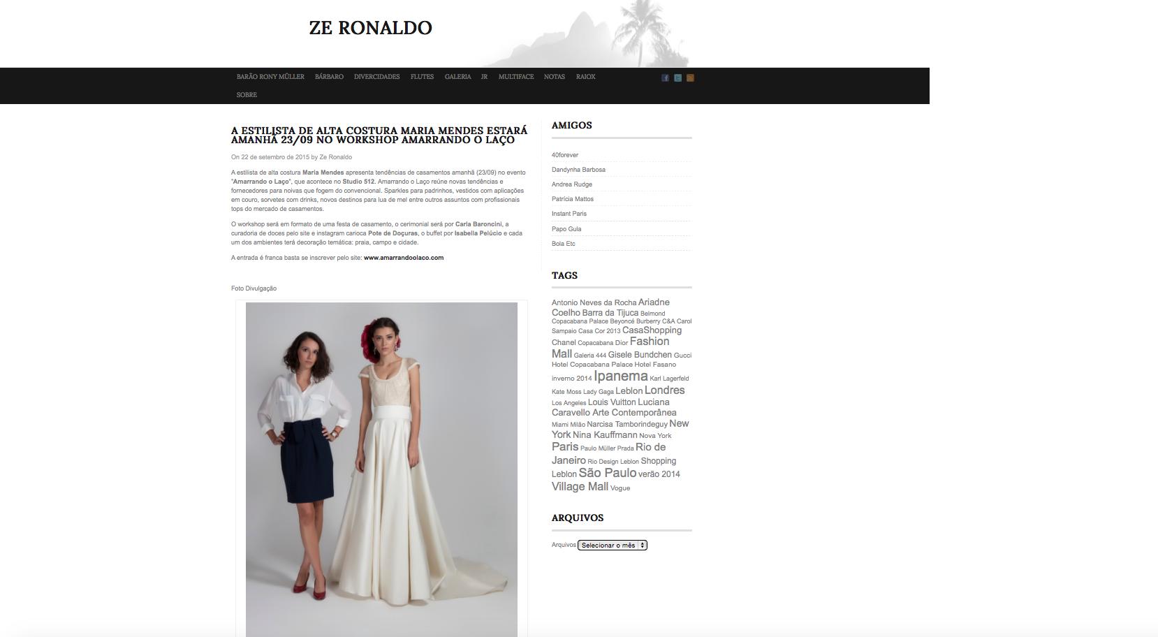 """22/09 - Site """"Ze Ronaldo"""""""