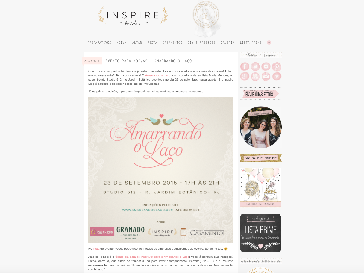 "22/09 - ""Blog Inspire"""