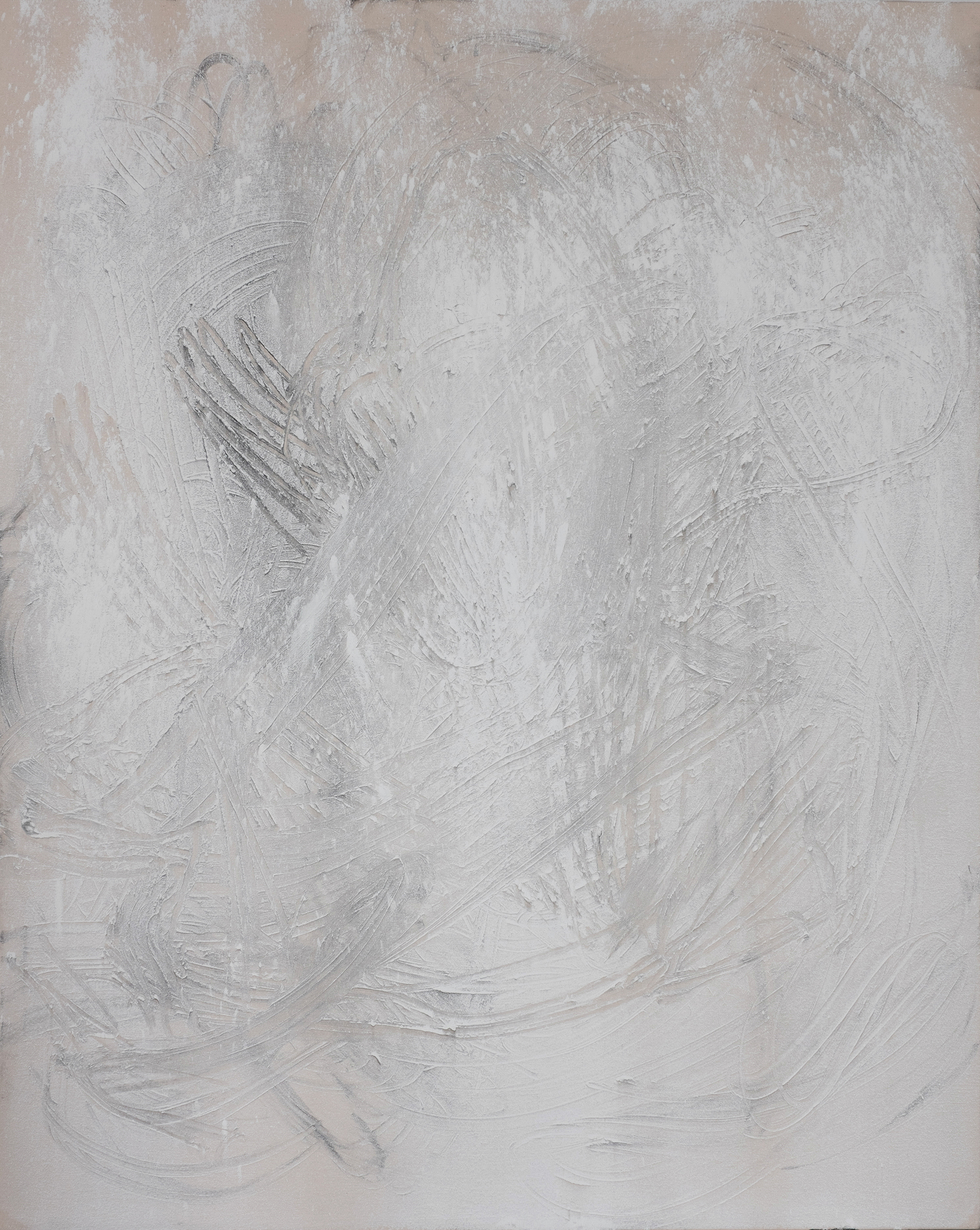 Whiteout, Acrylic, and Raw Pigments on Canvas, 5x4 feet, 2015