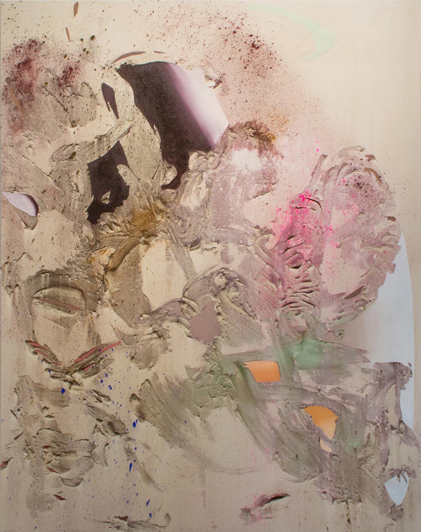 Megacaldera 2, Cold Wax Medium, Raw Pigments, and Oil on Canvas, 5x4 feet, 2016