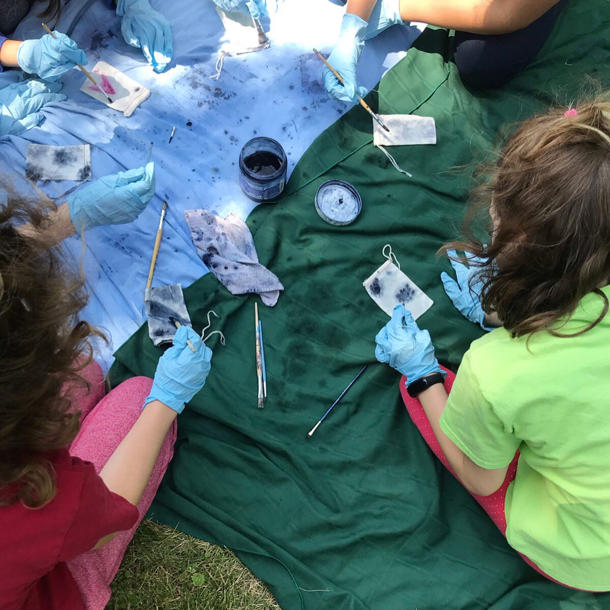 Eco-printing workshop with  Ottawa Art Gallery  'Art in the Woods' campers lead by Gillian King,  Carp Ridge Eco-Wellness Centre , Carp, On, 2019