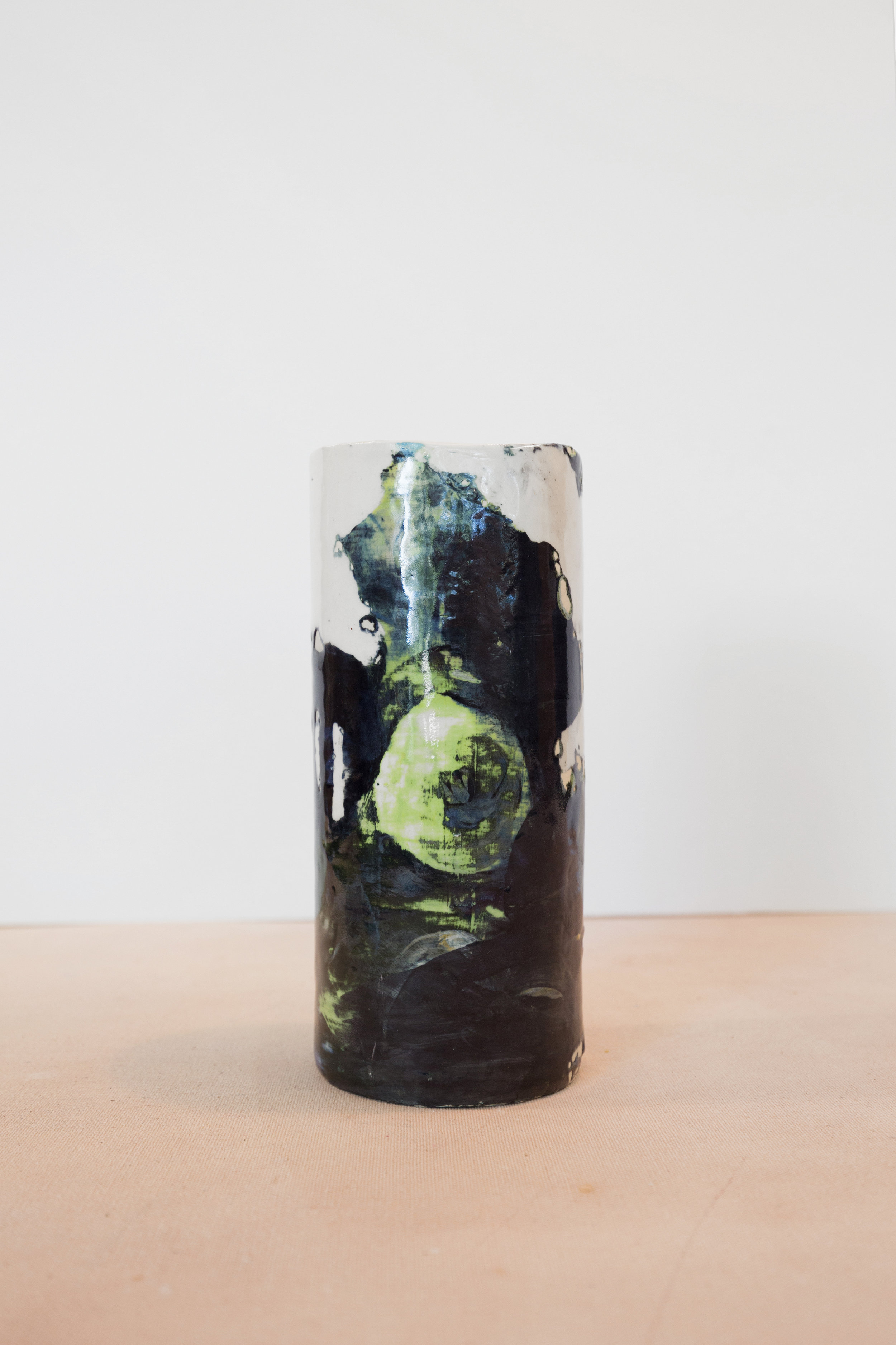 Ceramic Vase made with residents of the  Perley and Rideau Veterans' Health Centre  (Ottawa, On), 2019