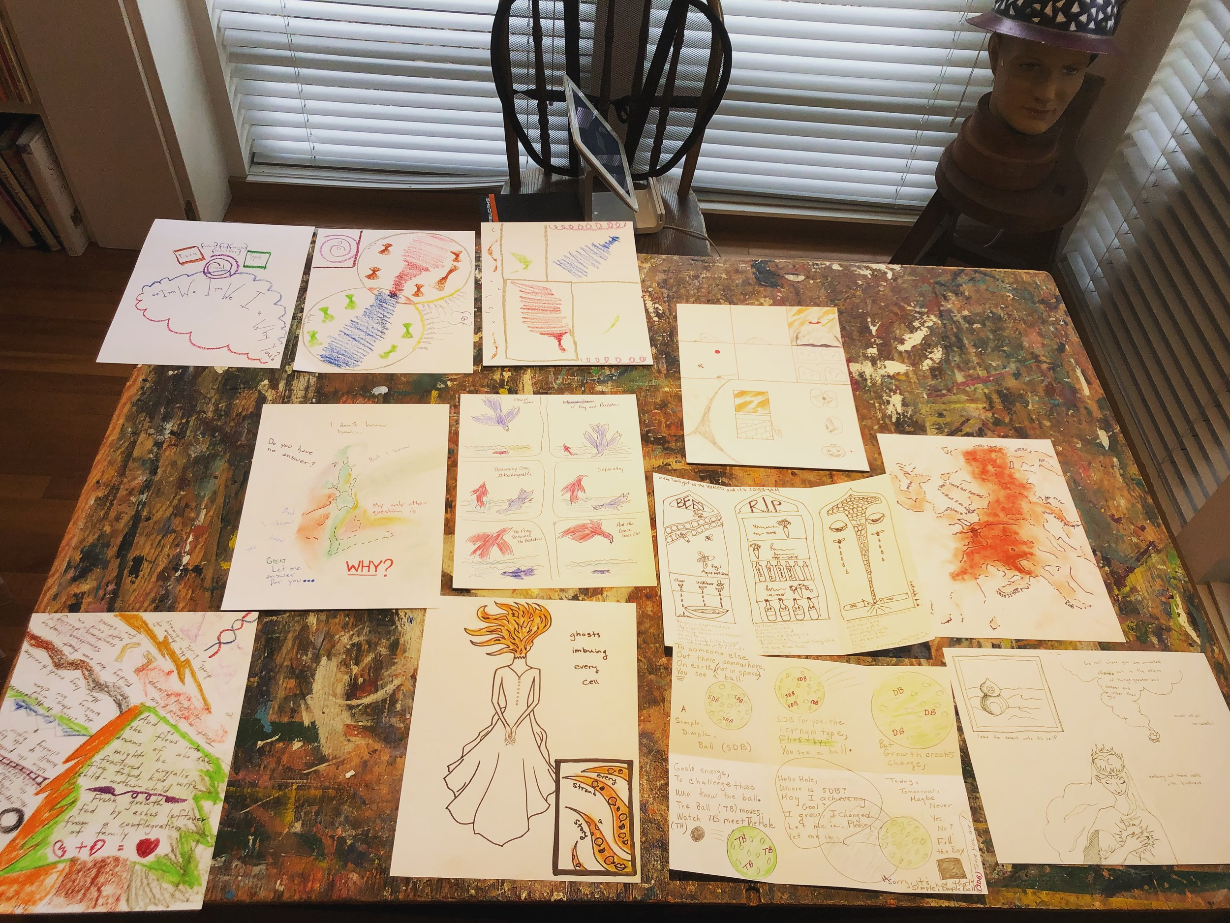 "from Dec. 1'st workshop, ""Introduction to Poetry Comics"""