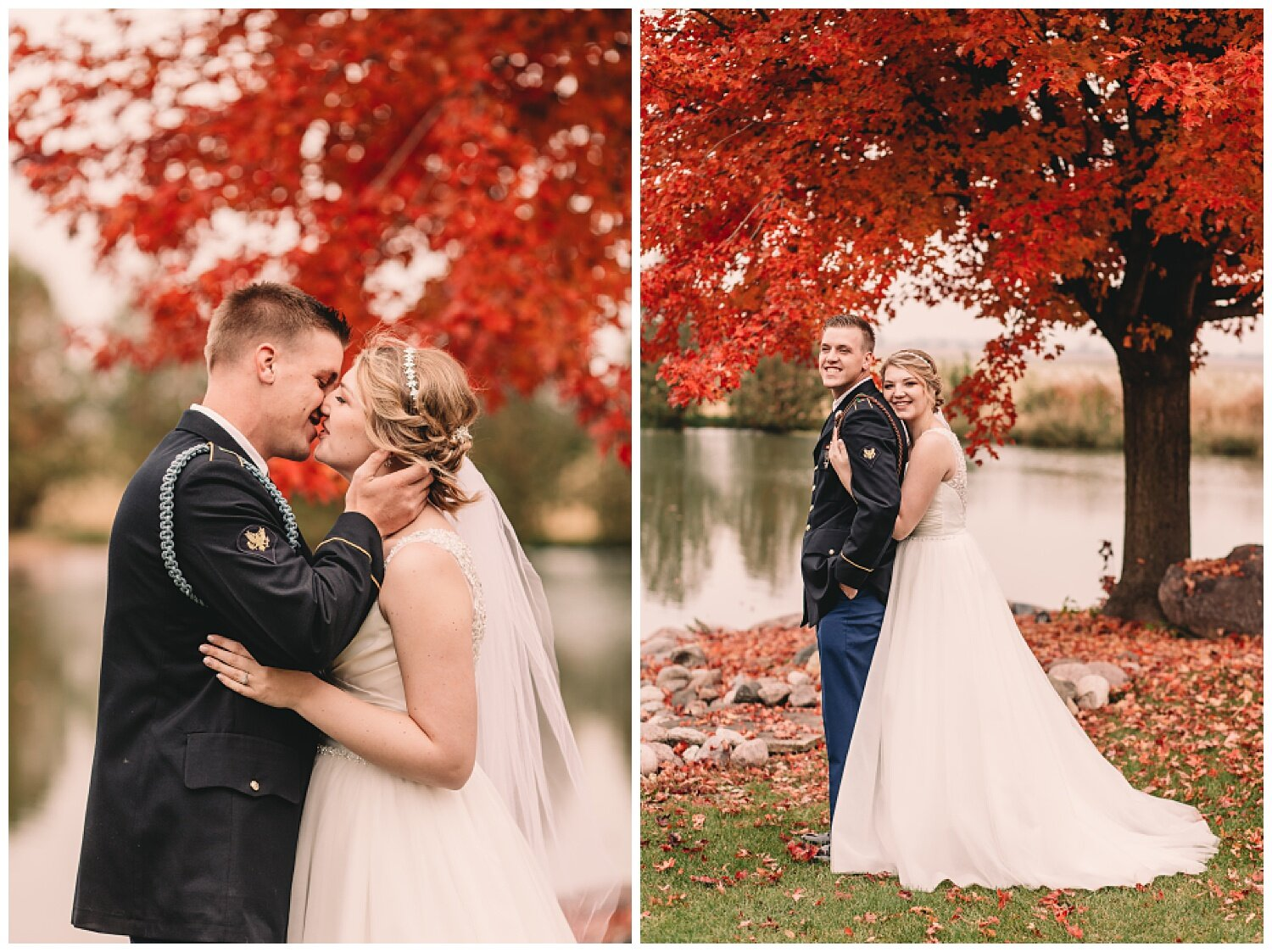 This tree was the most perfect backdrop for an October wedding!