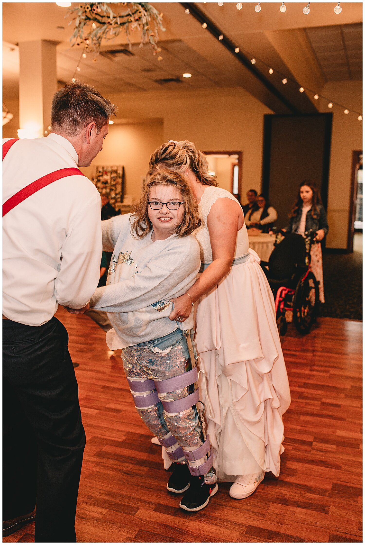 Without a doubt the best father/daughter dance ever. Mike and Maggie rocked it out on the dance floor and the smile on her face was priceless.