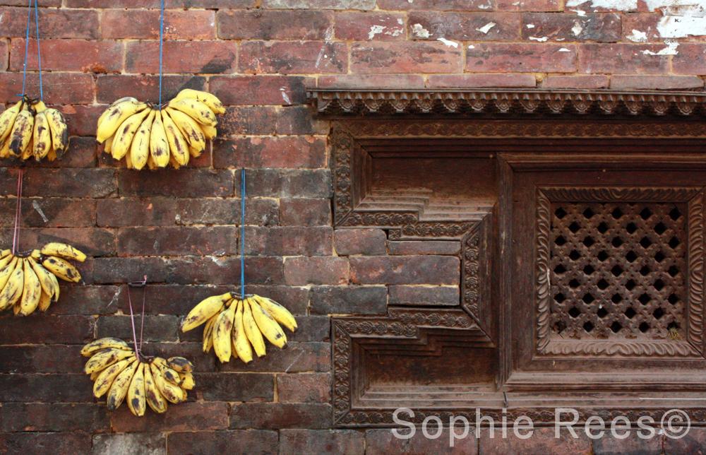 Banana on string, Bhaktapur, 2013