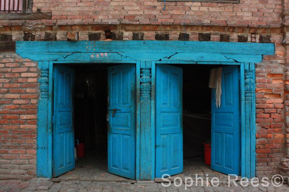 Blue gate, Bhaktapur, 2013