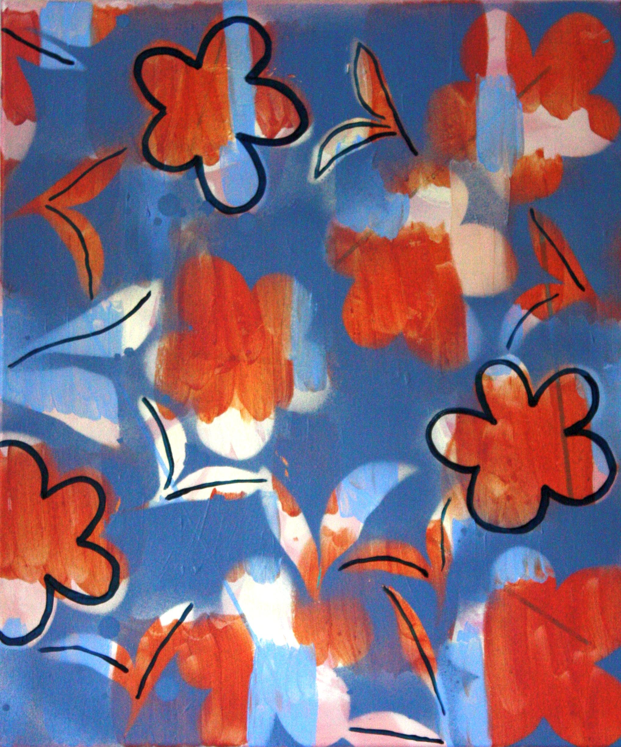 Blossom, 55 x 45cm, acrylic on canvas, 2019