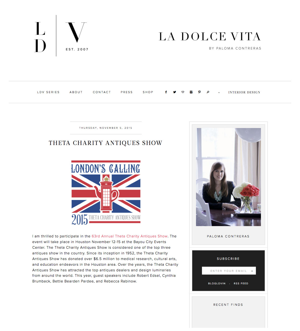 La Dolce Vita Blog November 5, 2015