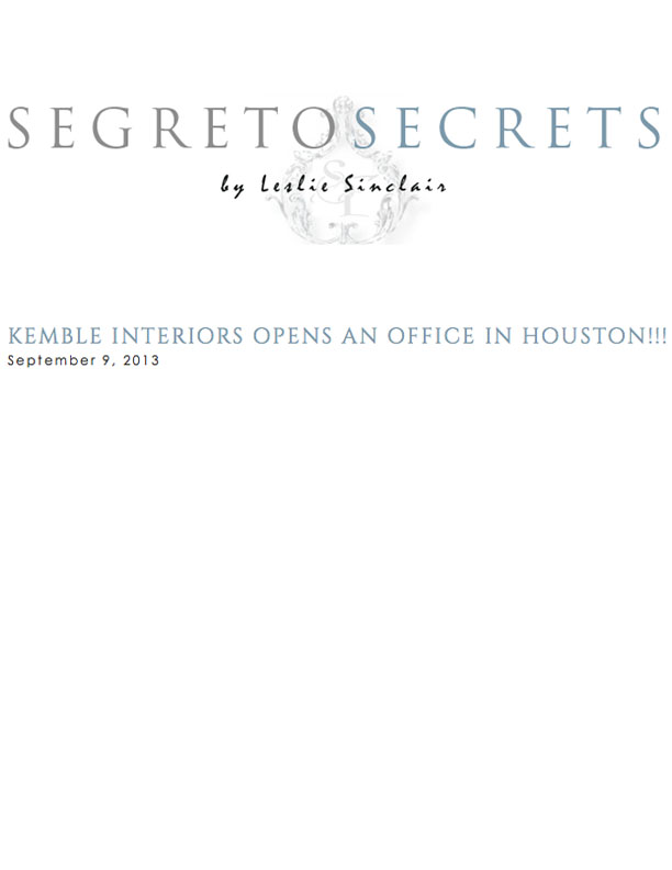 Segreto Secrets September 9, 2013