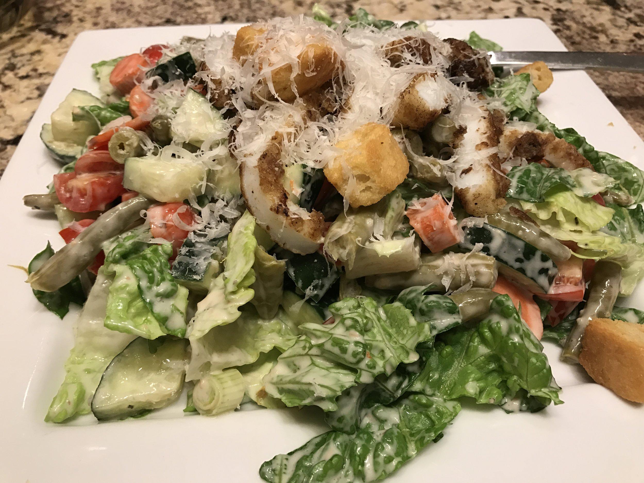 Seafood Caesar by Gretchen Miller Neuman for Qorkz.