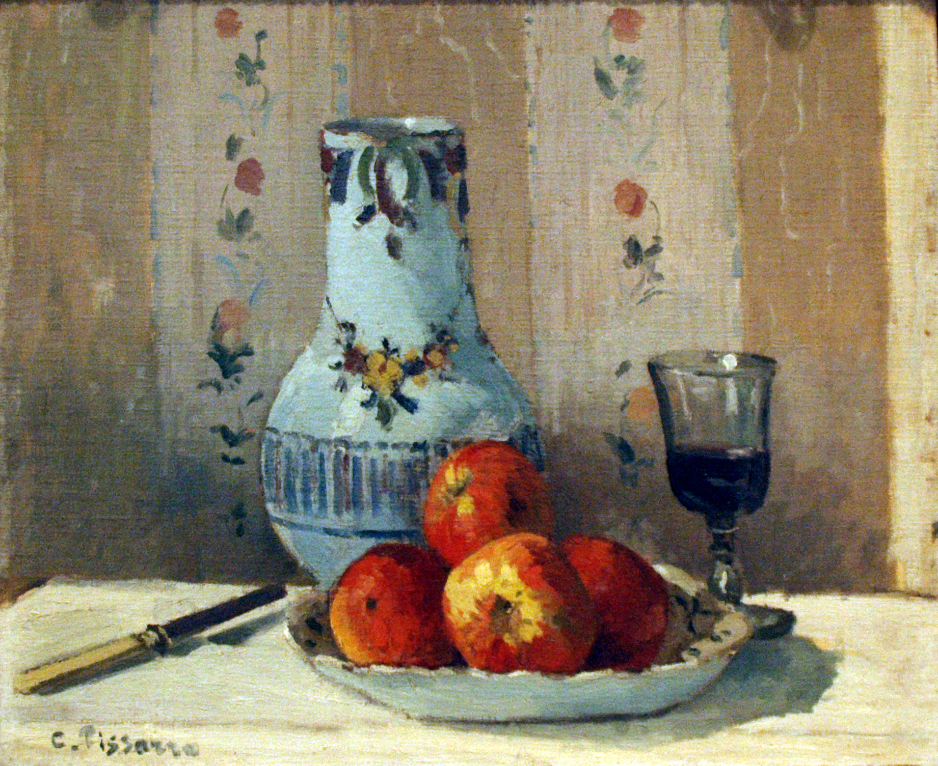 Pissarro_-_Still_Life_with_Apples_and_Pitcher.JPG