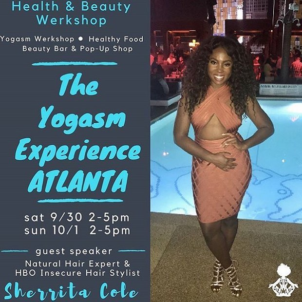 4 more days until #TheYogasmExperienceWerkShop in #Atlanta!! I have sooooooo much orgasmic shit planned for y'all! There are only 4 more tickets for Sunday and 6 tickets for Saturday so get them while they last because they will sell out soon. Click the link in my bio to get your ticket today! #theyogasmexperience #werkshop #NaturalHair #beautybar #popupshop #GoddessRising #HealingInsideOut #orgasmichealth #orgasmicwellness #wombwellness #thesacredspot #WoManifestation #WomanHood