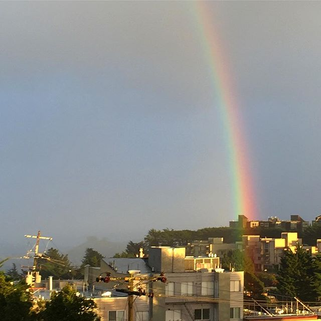 "A ""Welcome-to-San-Francisco"" Rainbow. How nice and thoughtful. #sanfrancisco #rainbow"