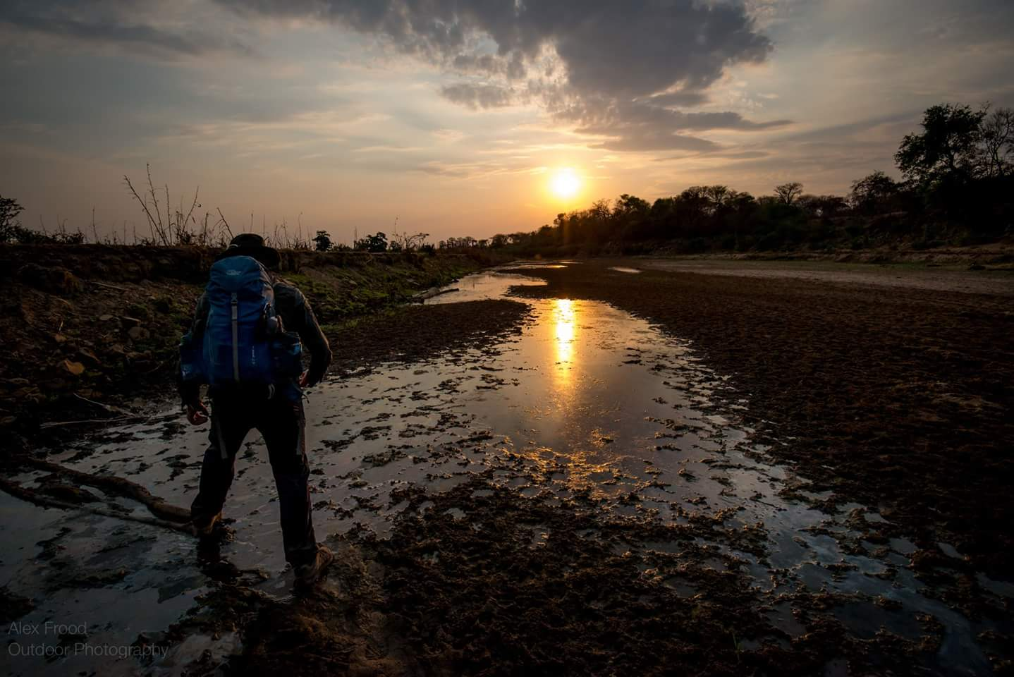 Crossing the many tributaries along the Zambezi was often like navigating a maze of swamps. Credit: Alex Frood