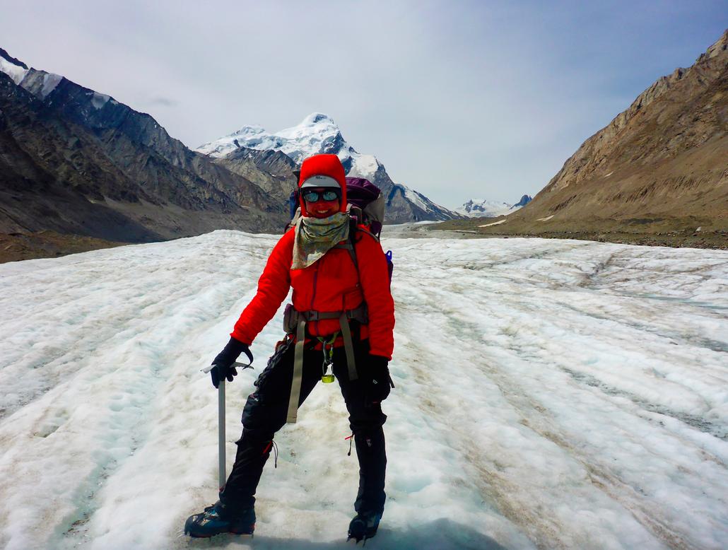 Adelaide on Durang Durung glacier, Ladakh