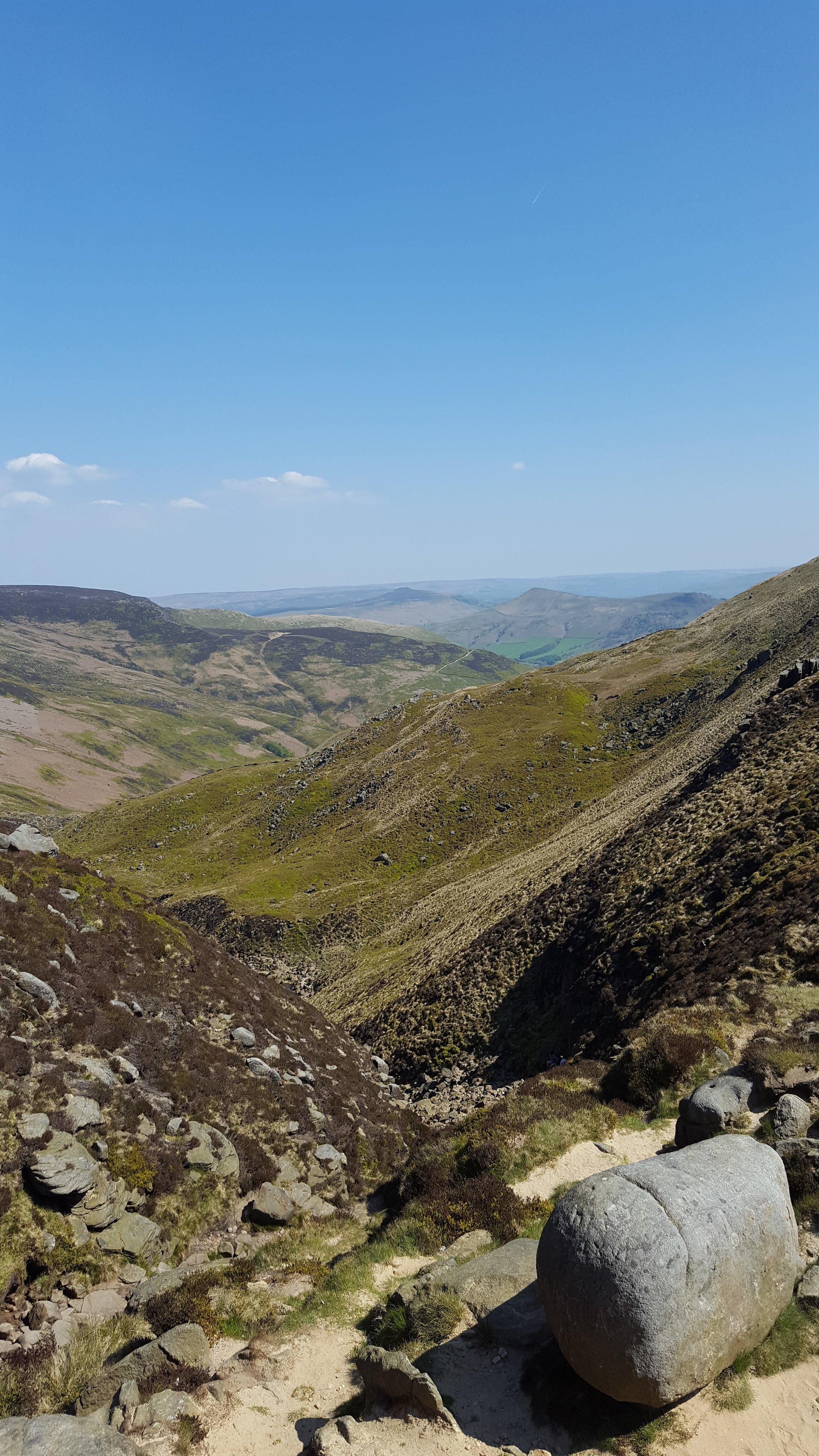 On top of Kinder Edge, Derbyshire