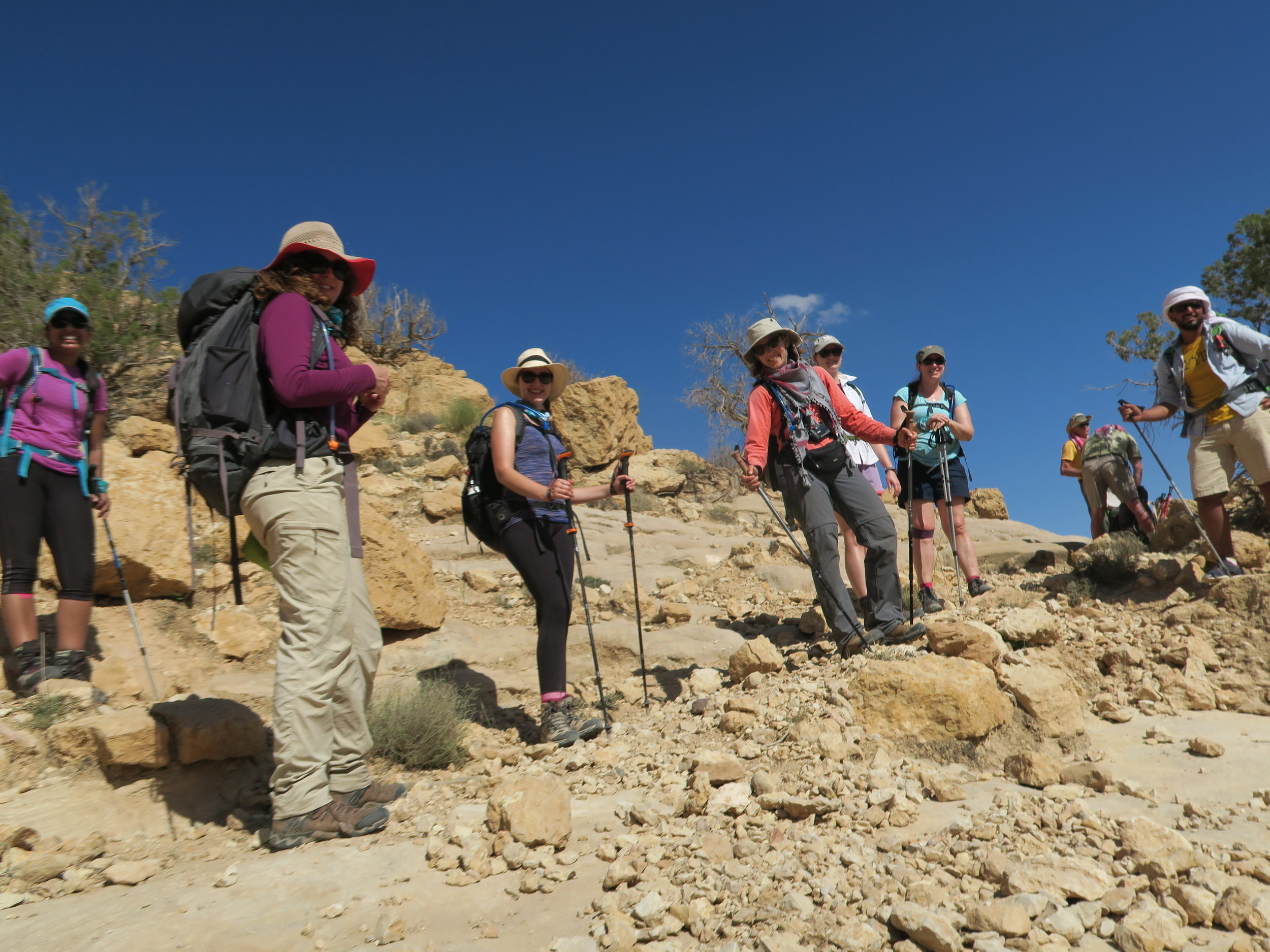 A typical view when you stop for a breather and a giggle with your fellow trekkers