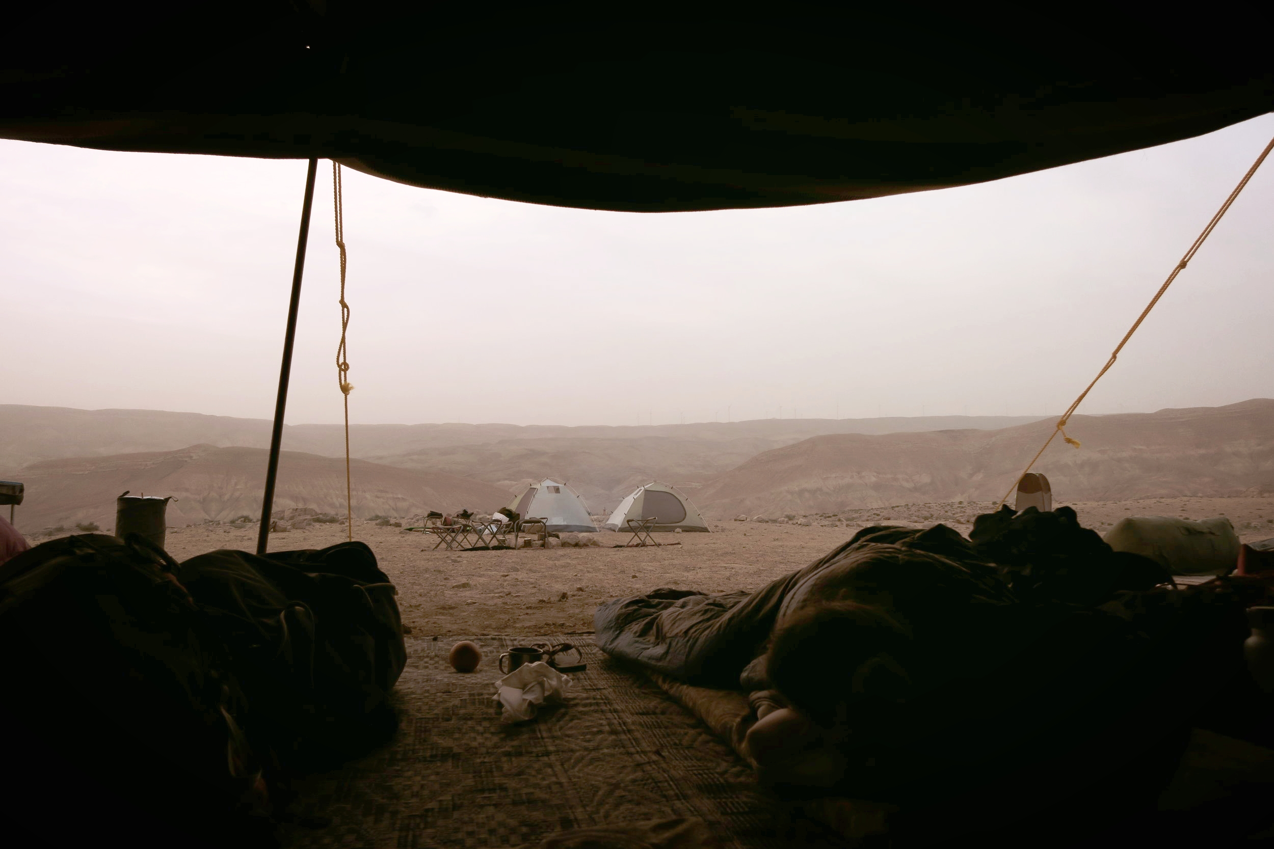 Just one of the desert views you'll get when waking up in the bedouin tent