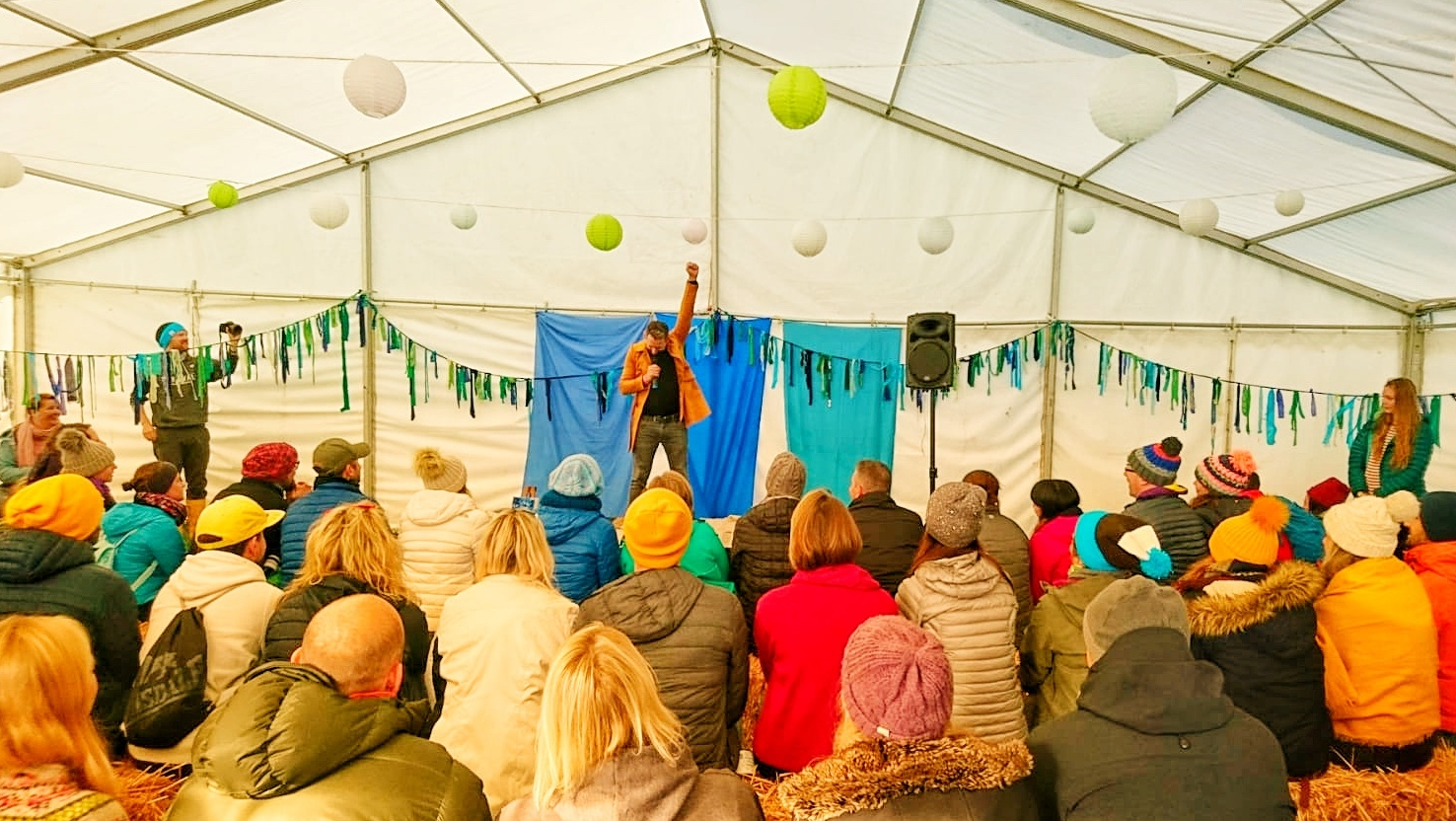 Image of Dan speaking at Yestival 2018