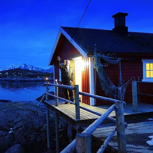 An #epicsleeps fan named Michael sent this photo of his current accommodation, the Svinøya Rorbuer basecamp for the Beautiful Lefoten Island's in Svolvær, Norway