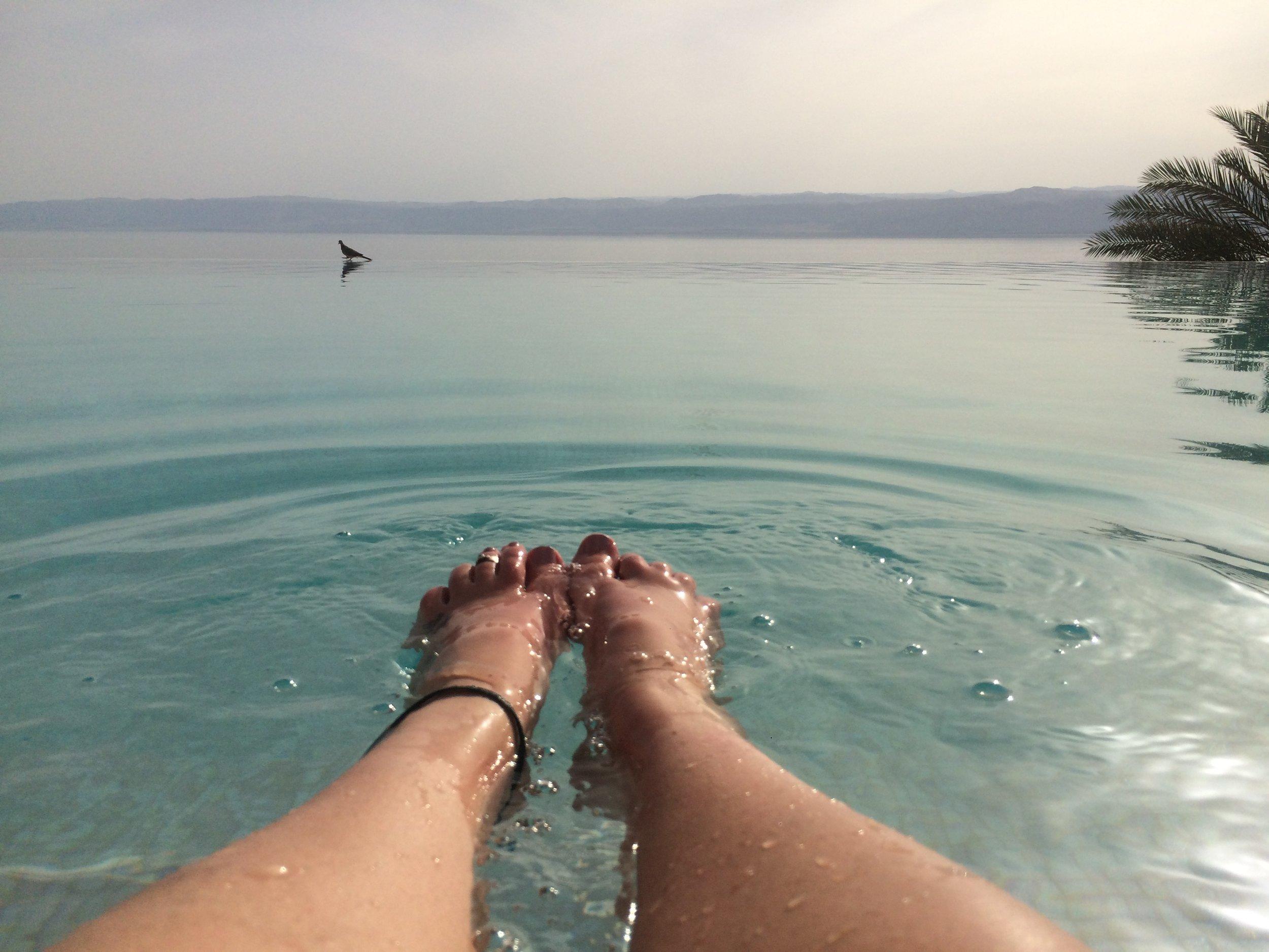 Deas Sea Spa Infinity Pool.JPG