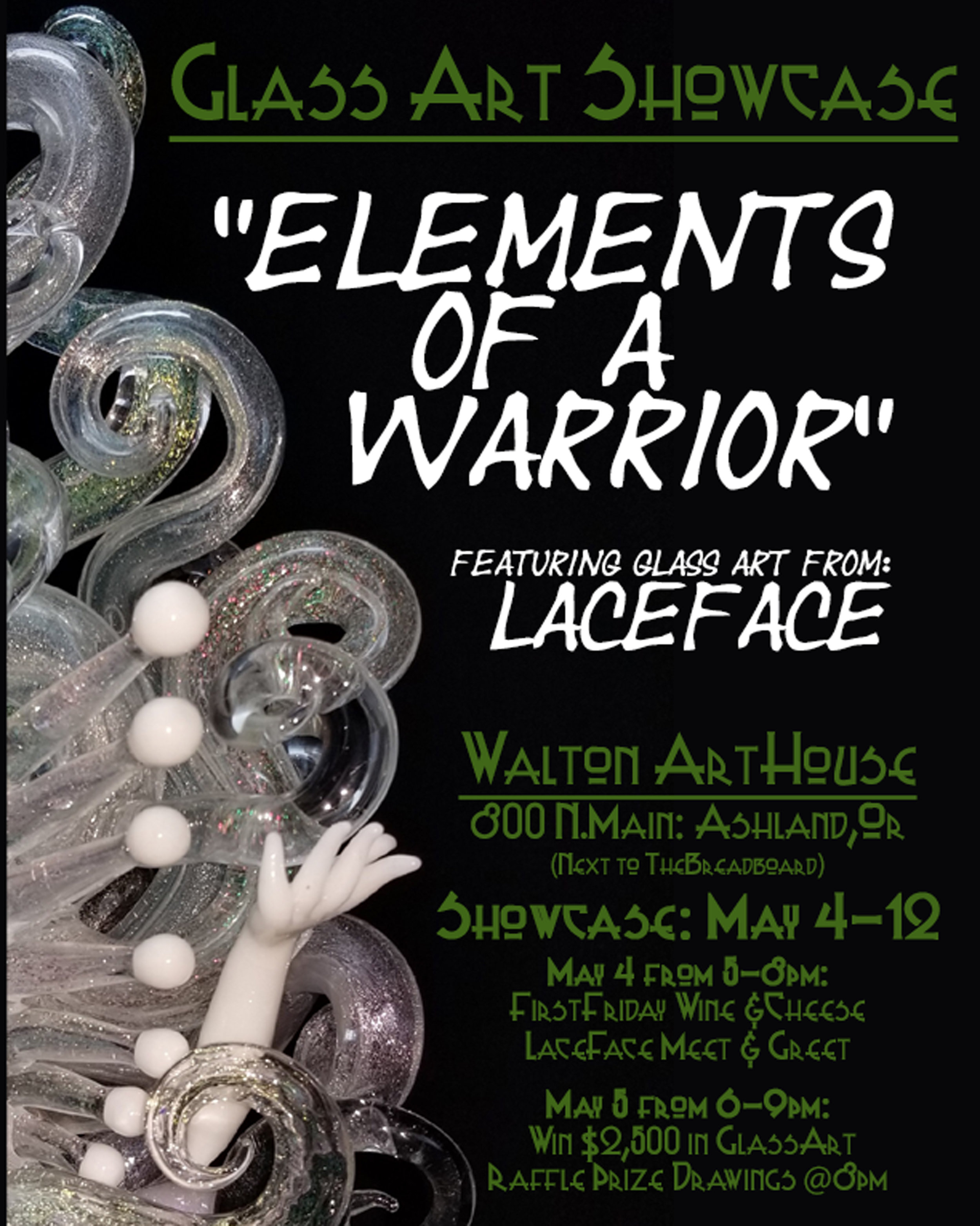 2017 & 2018 - DFO collaboration, Portland Or,  June 2018Elements of a warrior showcase at the Walton Art House Grand Opening May 2018Tribe 13