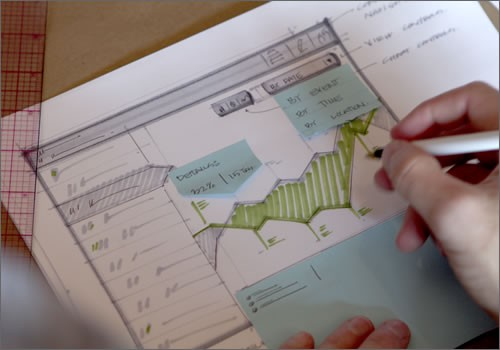 Explore a variety of interactions and ideas in a single sketch using sticky notes.