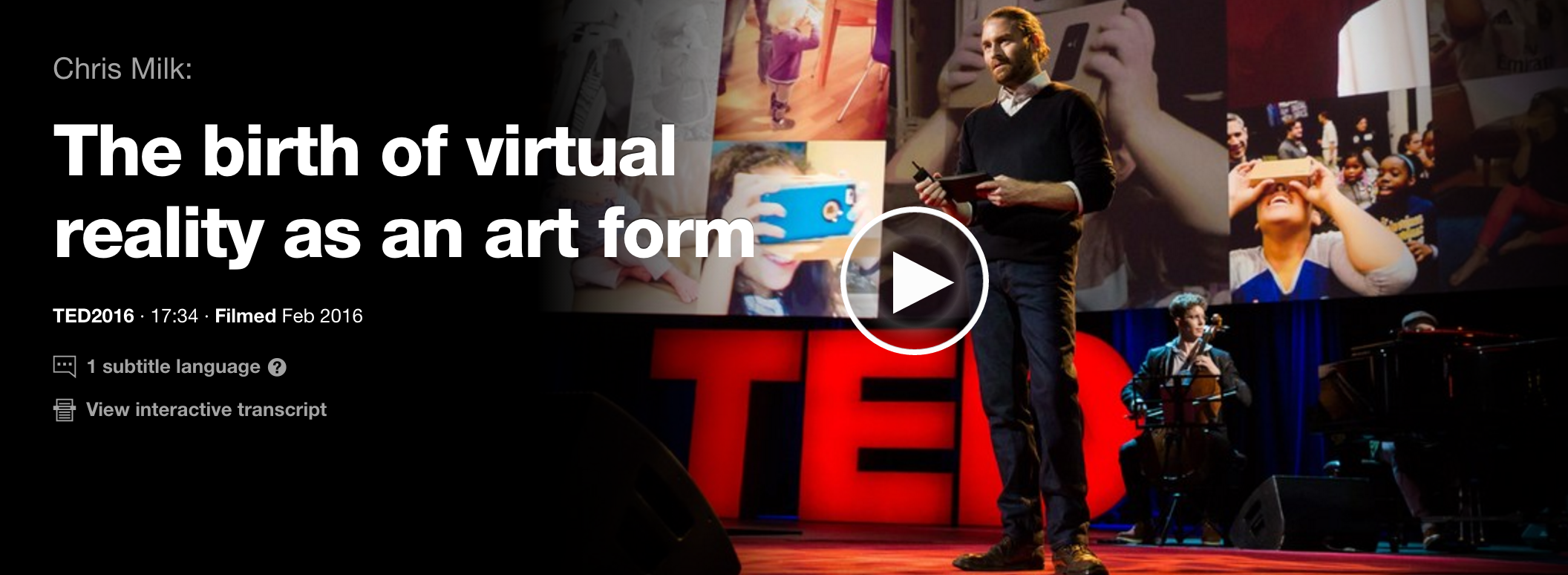 Click on the image to view the TED talk