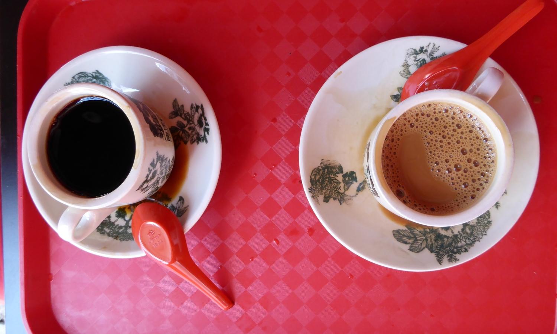 Kopi and Kopi O at Nanyang Old Coffee, Singapore