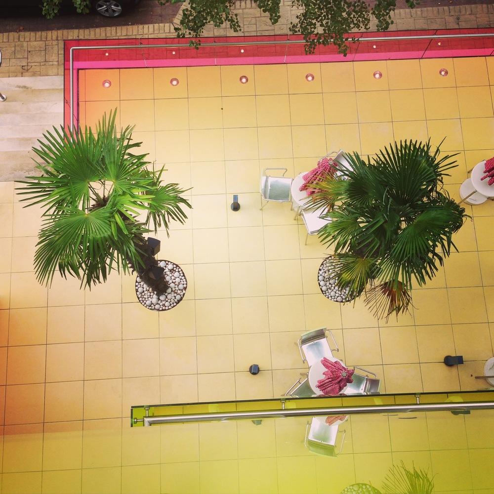 Semiramis view from hotel room balcony